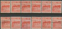 SG 258 ACSC 290e.-290ek. Produce Food - 3½d Butter set of variety singles (AE1/257)